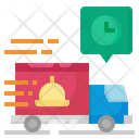 Delivery Time Delivery Truck Food Icon