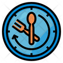 Delivery Time Clock Food Icon