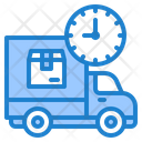 Delivery Time Delivery Truck Icon