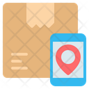 Tracking Online Mobile Icon