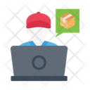 Delivery Parcel Worker Icon