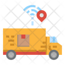 Delivery Tracking Truck Smart Icon