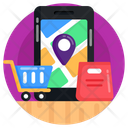 Cargo Tracking Delivery Tracking Mobile Tracking Icon