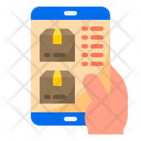 Delivery Tracking Logistic App Mobilephone Icon