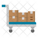 Trolly Delivery Shipping Icon
