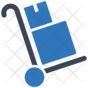 Delivery Trolley Startup Statistics Icon