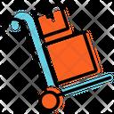 Delivery Trolley Plan Presentation Icon
