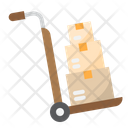 Delivery Trolley Cart Box Trolley Icon