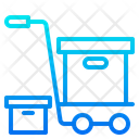 Delivery Trolley Delivery Box Box Trolley Icon