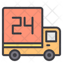 Delivery Hour Delivery Truck Fast Delivery Icon
