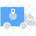 Delivery Truck World Wide Delivery Shipping Truck Icon