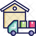Delivery Truck Parcel Truck Courier Truck Icon