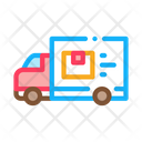 Courier Truck Delivery Icon