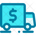 Truck Money Delivery Truck Icon