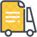 File Bus Delivery Icon
