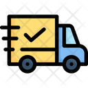 Online Shopping Delivery Truck Shipping Icon