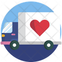 Hand Truck Heart Icon