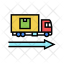 Delivering Truck Color Icon