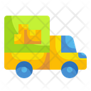 Delivery Truck Boxcar Packages Icon
