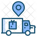 Delivery Truck Location Icon