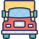 Delivery Van Shipping Truck Cargo Icon