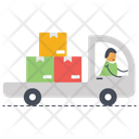 Delivery Van Shipping Truck Courier Delivery Icon