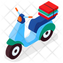 Delivery Vehicle Pizza Delivery Scooter Icon