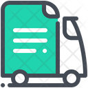 Document Delivery Truck Icon