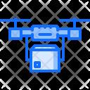 Delivery via drone Icon