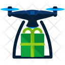 Delivery via drone Icon