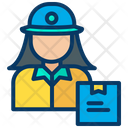 Delivery Girl Post Woman Messenger Icon