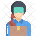 Delivery Woman Delivery Girl Delivery Icon