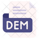 Dem Document File Icon