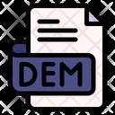 Dem File Type File Format Icon