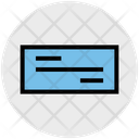Currency Paper Checkbook Icon