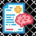 Dementia Medical Report Icon