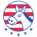 Party Badge Mule Icon