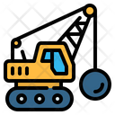 Demolition Ball Crane Icon