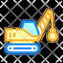 Demolition Crane Color Icon