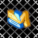 Demolition Crane Isometric Icon