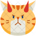 Demon Emoticon Cat Icon