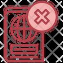 Denied Passportidentification Identity Icon