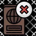 Denied Passport Icon