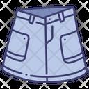 Denim Skirt Icon