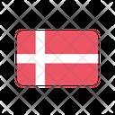 Denmark Flag Country Icon