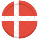 Denmark Flag Circle Icon