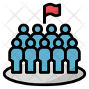 Dense Crowd Population Icon