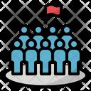 Dense Crowd Population Icon