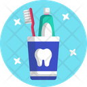 Tooth Brush Tooth Paste Molar Icon