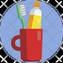 Dental Hygiene Toothbrush Toothpaste Icon